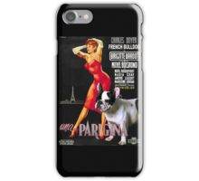 French Bulldog Art - Una Parigina Movie Poster iPhone Case/Skin