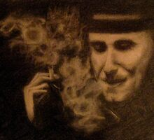 man smoking by Zerin Zachariah