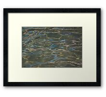 Blue Sea Lake Framed Print
