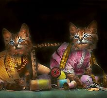 Cat - Mischief makers 1915 by Mike  Savad