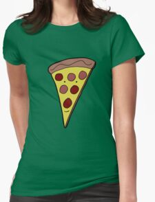 SUPER COLOUR PIZZA BOY Womens Fitted T-Shirt