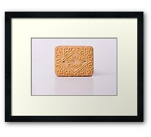 Custard Cream reflection Framed Print