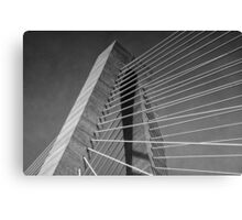 Towers and Cables (B&W) Canvas Print