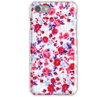 Bright Red, Purple, and Pink Floral Pattern iPhone Case/Skin
