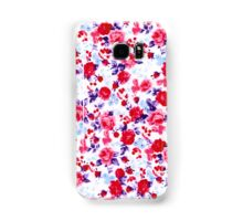 Bright Red, Purple, and Pink Floral Pattern Samsung Galaxy Case/Skin