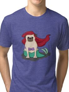 The Little Mer-Pug version 2 Tri-blend T-Shirt
