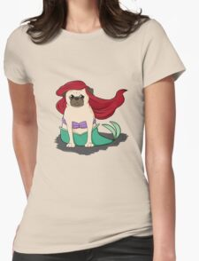 The Little Mer-Pug version 2 Womens Fitted T-Shirt
