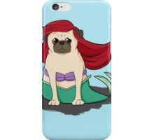 The Little Mer-Pug version 2 iPhone Case/Skin