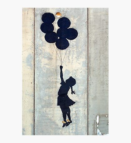 Floating Balloons by Banksy Photographic Print