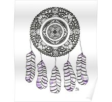 Watercolor and Ink dreamcatcher Poster