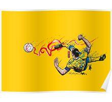 FantaSweden Zlatan Swirl Poster