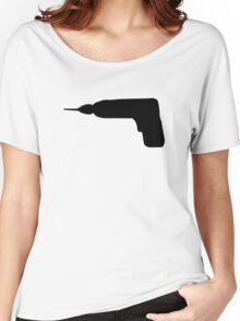 Cordless screwdriver drill machine Women's Relaxed Fit T-Shirt