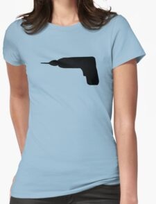 Cordless screwdriver drill machine Womens Fitted T-Shirt