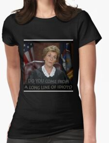 Long Line of Idiots Womens Fitted T-Shirt