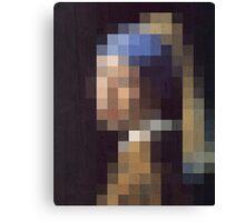 pixel pearl girl Canvas Print