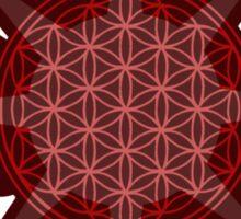 Flower of Life (red sun) Sticker