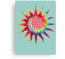 Flower of Life (tie-dye sun) Canvas Print
