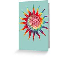 Flower of Life (tie-dye sun) Greeting Card