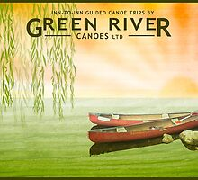 Poster - Canoeing under the Willows by Steven House