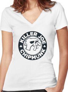 Killer Joe Chipmunk Women's Fitted V-Neck T-Shirt