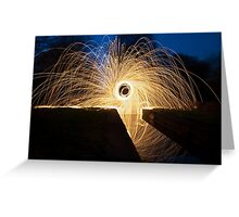 (Spray) Painting with light Greeting Card