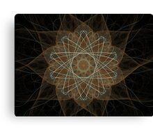 Atom Star Canvas Print