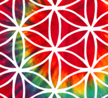 Inverted Tie-dye Flower of Life Sticker