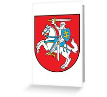Lithuanian Coat of Arms Greeting Card