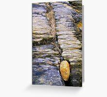 Between a Rock.... Greeting Card
