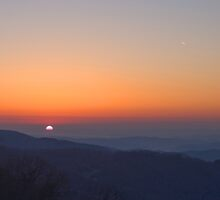 Sunrise from Blue Ridge Parkway by Jane Best
