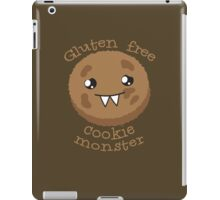 Gluten Free Cookie Monster with cute kawaii biscuit iPad Case/Skin