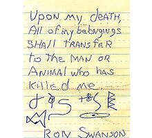 Ron Swanson's Will by MDoyle7