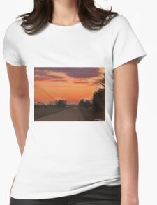 Country Road in the Abstract Womens Fitted T-Shirt