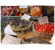 Market in Monterosso, Italy Poster