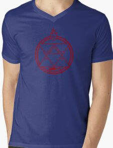 Flame Transmutation Circle Mens V-Neck T-Shirt
