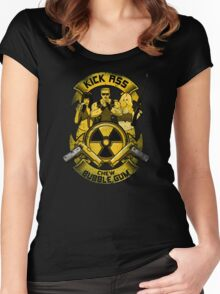 Kick Ass and Chew Bubble Gum! Women's Fitted Scoop T-Shirt