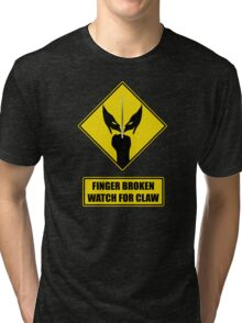 Watch for claw V.1 Tri-blend T-Shirt