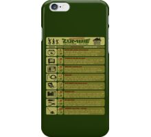 Zombie Defense Guide iPhone Case/Skin