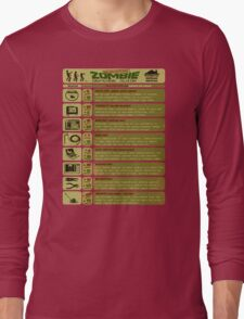 Zombie Defense Guide Long Sleeve T-Shirt