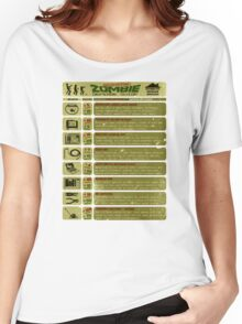 Zombie Defense Guide Women's Relaxed Fit T-Shirt