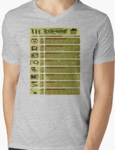 Zombie Defense Guide Mens V-Neck T-Shirt