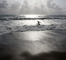 Body Surfer in Levanto, Italy by Alison Simpson