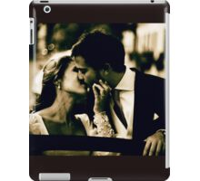 Bride and groom kissing in wedding marriage sepia 35mm film iPad Case/Skin