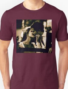 Bride and groom kissing in wedding marriage sepia 35mm film T-Shirt