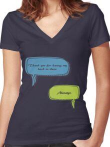 Caskett Women's Fitted V-Neck T-Shirt