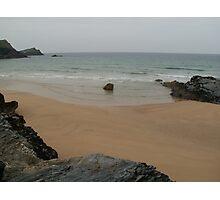 Pollyjoke Beach - Newquay - Cornwall Photographic Print