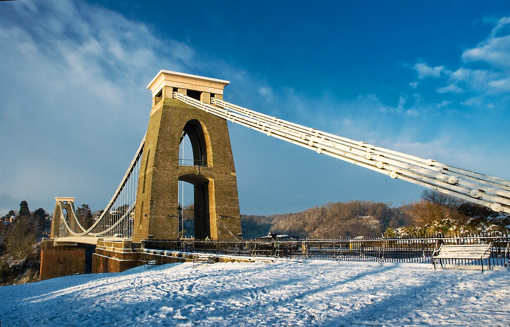 Clifton Suspension Bridge in WInter by Alan Watt