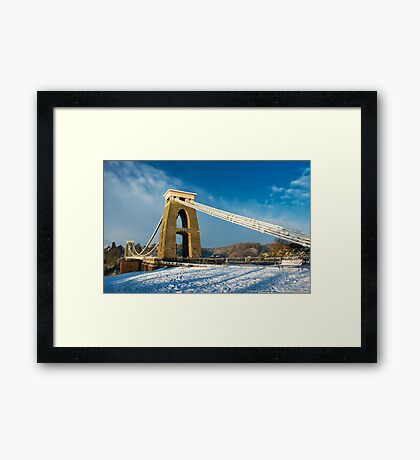Clifton Suspension Bridge in WInter Framed Print