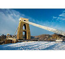 Clifton Suspension Bridge in WInter Photographic Print