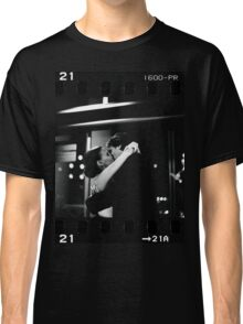 Bride and groom kissing in wedding sepia 35mm film negative strip Classic T-Shirt